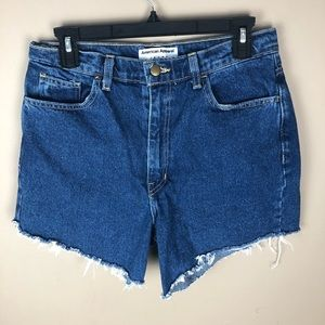 American Apparel High Wasited Jean Shorts